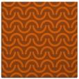 rug #477329 | square red-orange graphic rug
