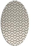 rug #477417 | oval beige graphic rug