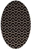 rug #477429 | oval black retro rug