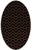 rug #477433 | oval brown retro rug