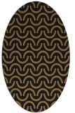 rug #477437 | oval brown retro rug