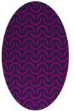 rug #477445 | oval pink graphic rug
