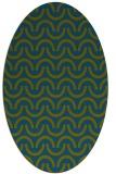 rug #477477 | oval blue-green popular rug