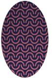 rug #477509 | oval pink rug
