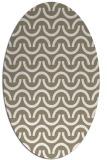 rug #477557 | oval white retro rug