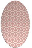 rug #477637 | oval pink graphic rug