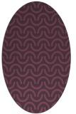 rug #477641   oval purple retro rug