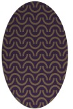 rug #477649 | oval purple graphic rug