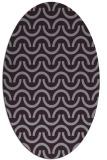 rug #477653   oval purple retro rug