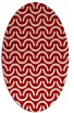 rug #477657 | oval red retro rug