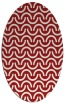 rug #477665 | oval red graphic rug