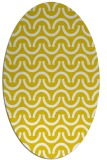 rug #477717 | oval yellow graphic rug