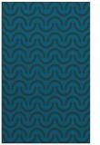 rug #477849 |  blue-green retro rug