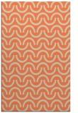 rug #477965 |  orange retro rug