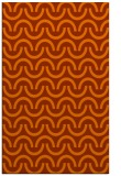 rug #478025 |  red-orange graphic rug