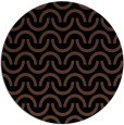 rug #478137 | round brown retro rug