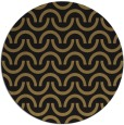 rug #478141 | round brown retro rug