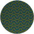 rug #478181 | round blue-green rug