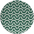 rug #478253 | round blue-green graphic rug