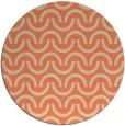 rug #478317 | round beige retro rug
