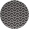 rug #478321 | round orange graphic rug