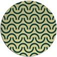 rug #478325 | round yellow retro rug