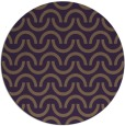 rug #478353 | round mid-brown retro rug