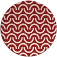 rug #478369   round red graphic rug