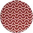rug #478369 | round red retro rug