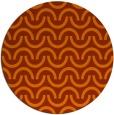 rug #478377 | round red-orange retro rug