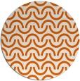 rug #478389 | round red-orange retro rug