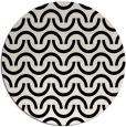 rug #478393 | round black retro rug
