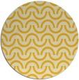 rug #478409 | round yellow graphic rug