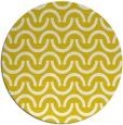 rug #478421 | round yellow retro rug