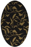 rug #479197 | oval mid-brown natural rug