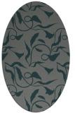 rug #479305 | oval blue-green natural rug