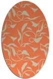 rug #479373 | oval orange popular rug
