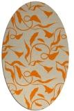 rug #479493 | oval beige natural rug