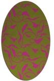rug #479505 | oval light-green rug