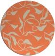 rug #480077 | round orange popular rug