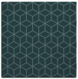 rug #482417 | square blue-green popular rug