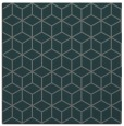 rug #482473 | square blue-green rug