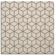 rug #482497   square mid-brown geometry rug