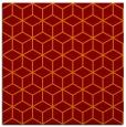 rug #482533 | square red-orange popular rug
