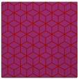 rug #482597 | square red geometry rug