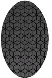 rug #482705 | oval black geometry rug