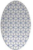 rug #482737 | oval blue geometry rug