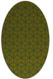 rug #482757 | oval blue-green rug