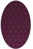 rug #482764 | oval geometry rug