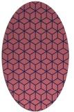 rug #482789 | oval blue-violet rug